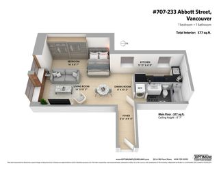 """Photo 7: 707 233 ABBOTT Street in Vancouver: Downtown VW Condo for sale in """"ABBOTT PLACE"""" (Vancouver West)  : MLS®# R2575852"""