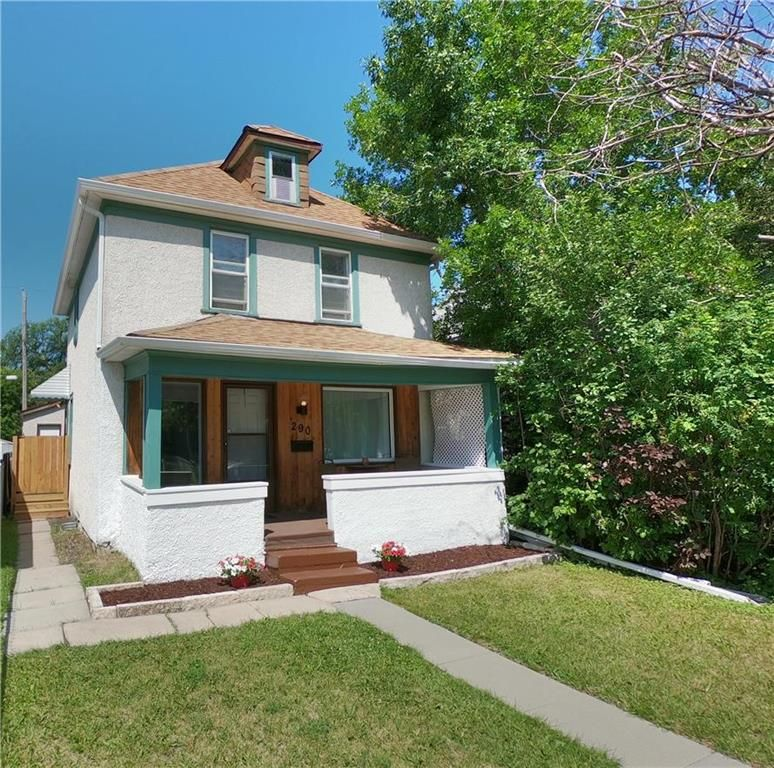 290 King Edward! Charming covered front porch, updated shingles, new sidewalk from the street and a nice new gate/wood steps to side door!