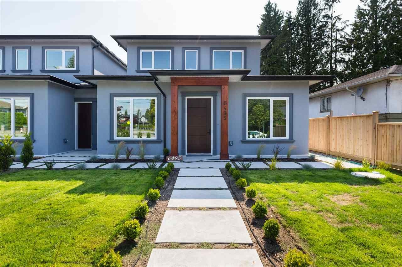 Main Photo: 6495 WALKER Avenue in Burnaby: Upper Deer Lake 1/2 Duplex for sale (Burnaby South)  : MLS®# R2439184