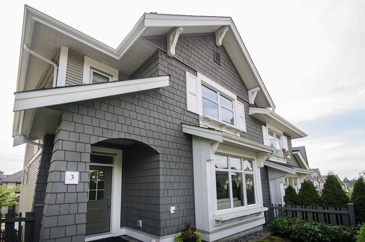 """Main Photo: 3 3400 DEVONSHIRE Avenue in Coquitlam: Burke Mountain Townhouse for sale in """"Colborne Lane"""" : MLS®# R2404038"""