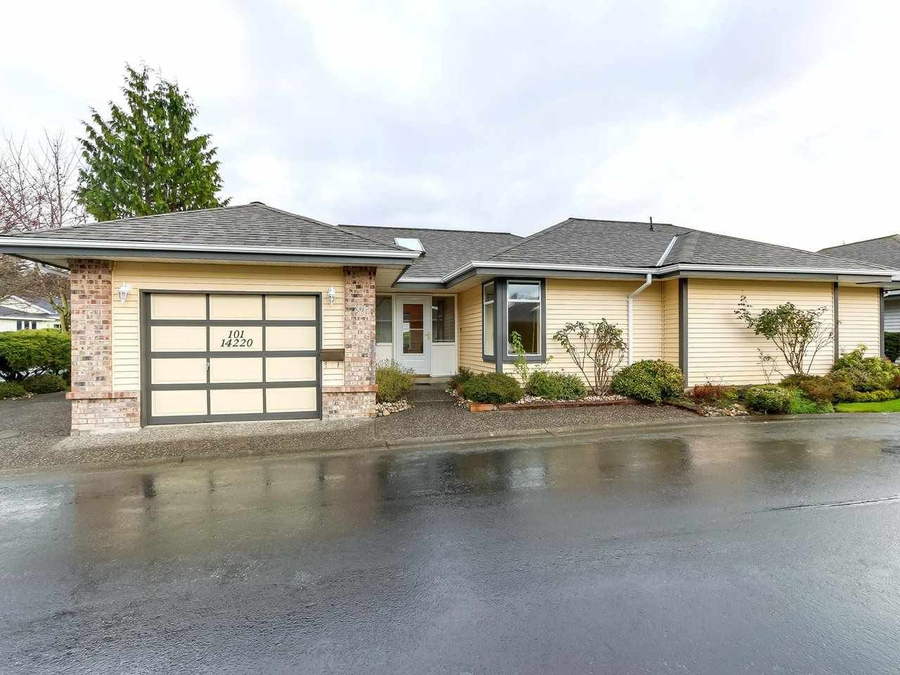 """Main Photo: 101 14220 19A Avenue in Surrey: Sunnyside Park Surrey Townhouse for sale in """"Ocean Bluff Court"""" (South Surrey White Rock)  : MLS®# R2326003"""