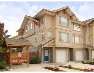 Photo 1: 25 5388 201A Street in Langley: Langley City Townhouse for sale : MLS®# F2726316