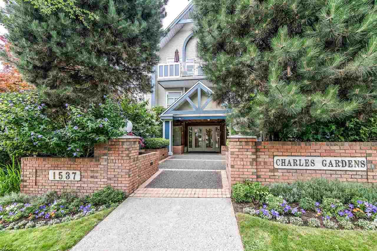 """Main Photo: 203 1537 CHARLES Street in Vancouver: Grandview Woodland Condo for sale in """"Charles Gardens"""" (Vancouver East)  : MLS®# R2394813"""