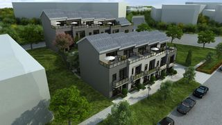 Photo 1: 1, 426 3 Avenue NE in Calgary: Bridgeland/Riverside Row/Townhouse for sale : MLS®# A1056307
