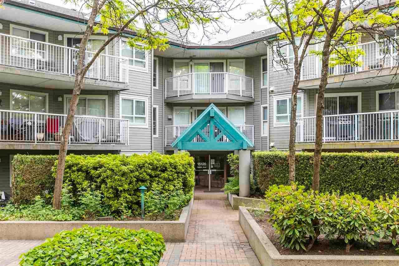 """Main Photo: 107 15120 108 Avenue in Surrey: Guildford Condo for sale in """"Riverpointe"""" (North Surrey)  : MLS®# R2582805"""