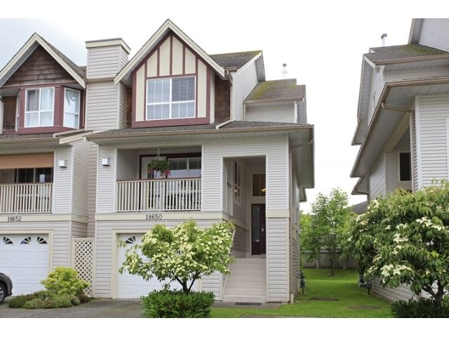 """Main Photo: 18650 65TH Avenue in SURREY: Cloverdale BC Townhouse for sale in """"RIDGEWAY"""" (Cloverdale)  : MLS®# F1215322"""