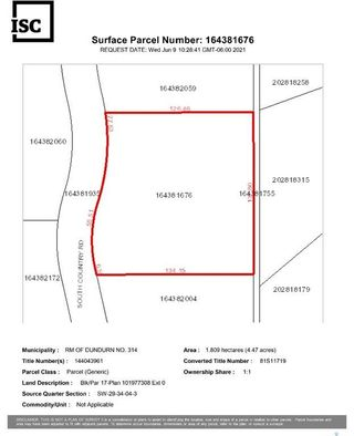Photo 4: Lot 17 South Country Estates in Dundurn: Lot/Land for sale (Dundurn Rm No. 314)  : MLS®# SK859085
