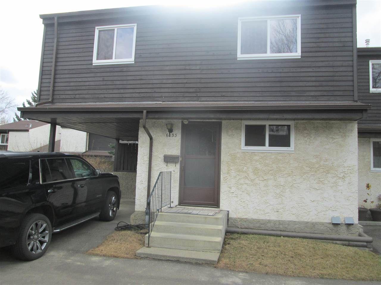 Main Photo: 6033 35A Avenue in Edmonton: Zone 29 Townhouse for sale : MLS®# E4242452