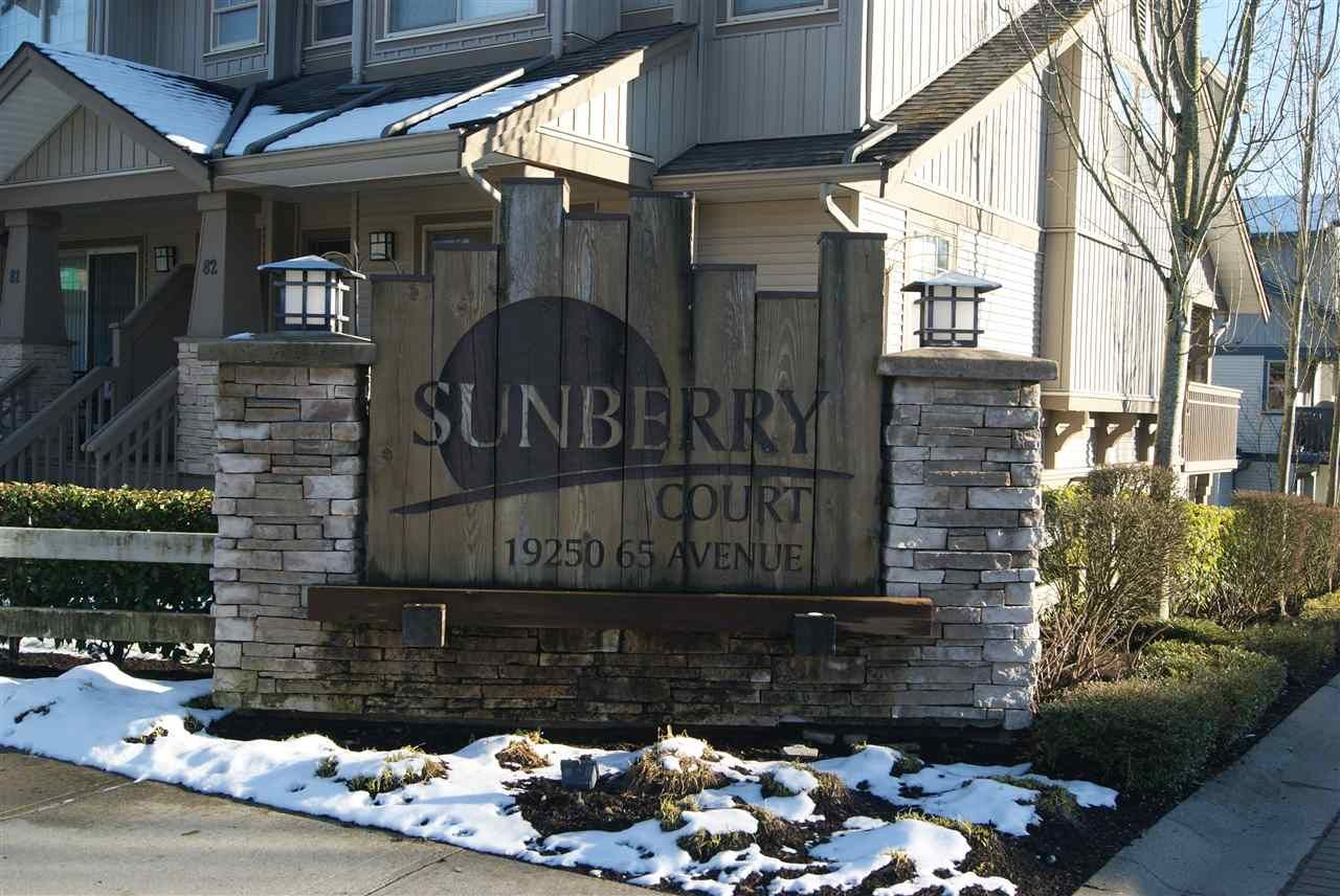 """Main Photo: 15 19250 65 Avenue in Surrey: Clayton Townhouse for sale in """"Sunberry Court"""" (Cloverdale)  : MLS®# R2141831"""