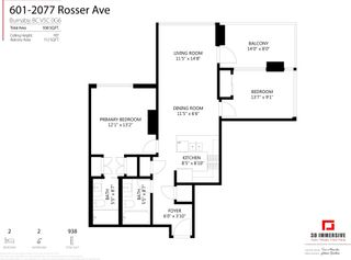 """Photo 22: 601 2077 ROSSER Avenue in Burnaby: Brentwood Park Condo for sale in """"Vantage"""" (Burnaby North)  : MLS®# R2594703"""