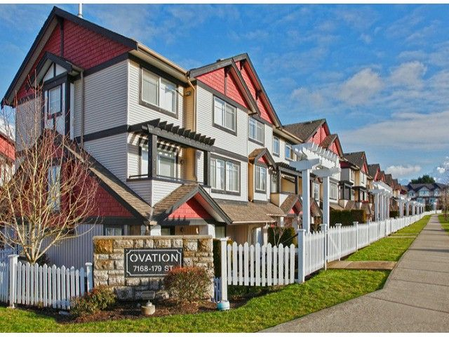 Main Photo: # 28 7168 179TH ST in Surrey: Cloverdale BC Condo for sale (Cloverdale)  : MLS®# F1430373