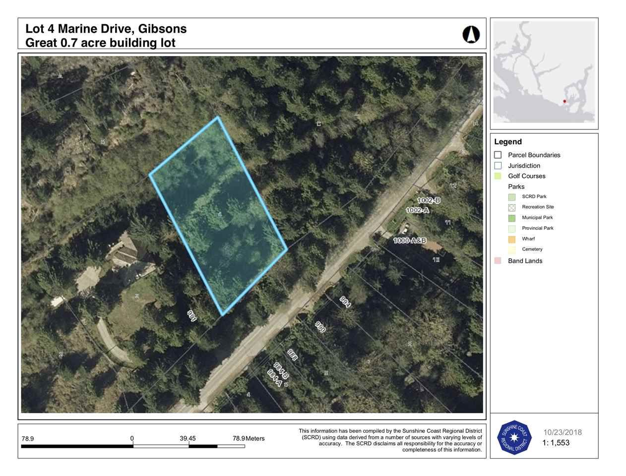 Lot 4 is .7 of an acre in a choice location perfect for commuters to Vancouver or those who are looking to build close to Lower Gibsons and the ocean.