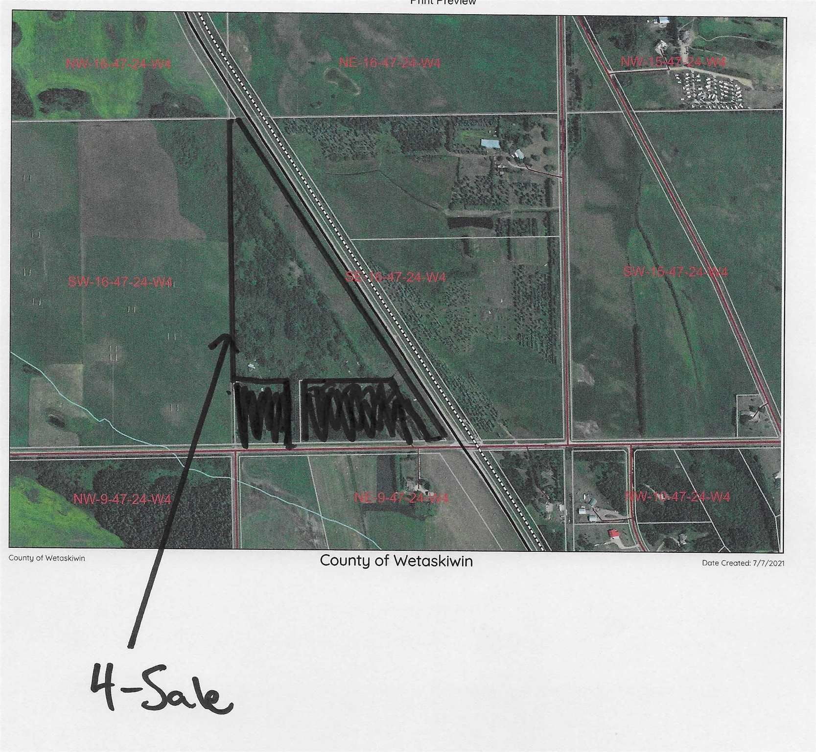 Main Photo: HWY 2A: Rural Wetaskiwin County Rural Land/Vacant Lot for sale : MLS®# E4253353