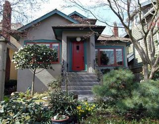 Photo 1: 1311 CYPRESS Street in Vancouver: Kitsilano House for sale (Vancouver West)  : MLS®# V640523