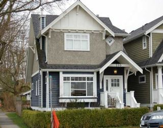 Photo 1: 599 W 20TH Ave in Vancouver: Cambie House for sale (Vancouver West)  : MLS®# V634796