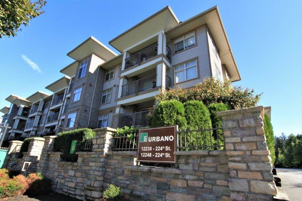 "Main Photo: 112 12238 224 Street in Maple Ridge: East Central Condo for sale in ""URBANO"" : MLS®# R2230823"