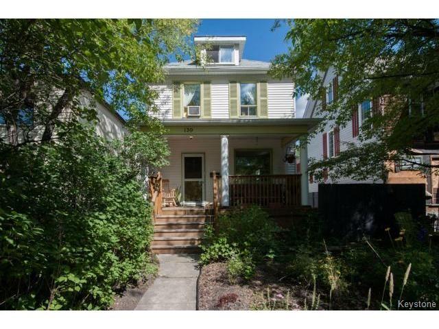Main Photo: 139 Arlington Street in WINNIPEG: West End / Wolseley Residential for sale (West Winnipeg)  : MLS®# 1418074