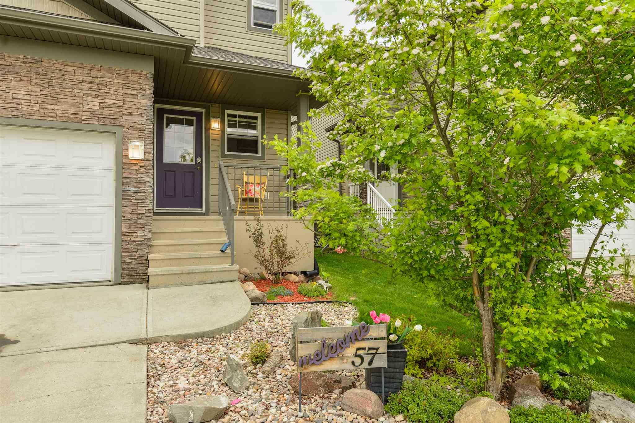 Main Photo: 57 HARTWICK Loop: Spruce Grove House Half Duplex for sale : MLS®# E4249161