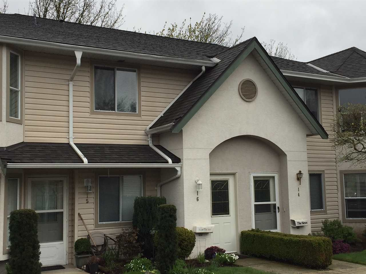 Main Photo: 16 3380 GLADWIN ROAD in : Central Abbotsford Townhouse for sale : MLS®# R2157299