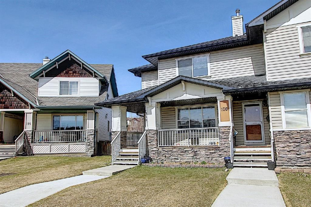 Main Photo: 110 Panamount Square NW in Calgary: Panorama Hills Semi Detached for sale : MLS®# A1094824