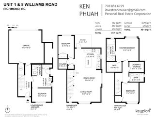 "Photo 2: 1 9219 WILLIAMS Road in Richmond: Saunders Townhouse for sale in ""WILLIAMS & PARK"" : MLS®# R2484081"