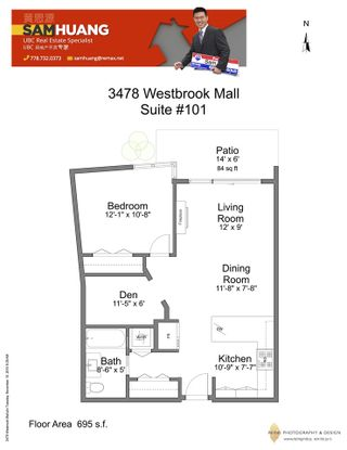Photo 15: 101 3478 WESBROOK Mall in Vancouver: University VW Condo for sale (Vancouver West)  : MLS®# R2015338