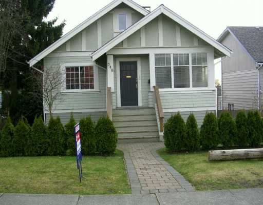 Main Photo: 349 E 8TH ST in North Vancouver: Central Lonsdale House for sale : MLS®# V573980
