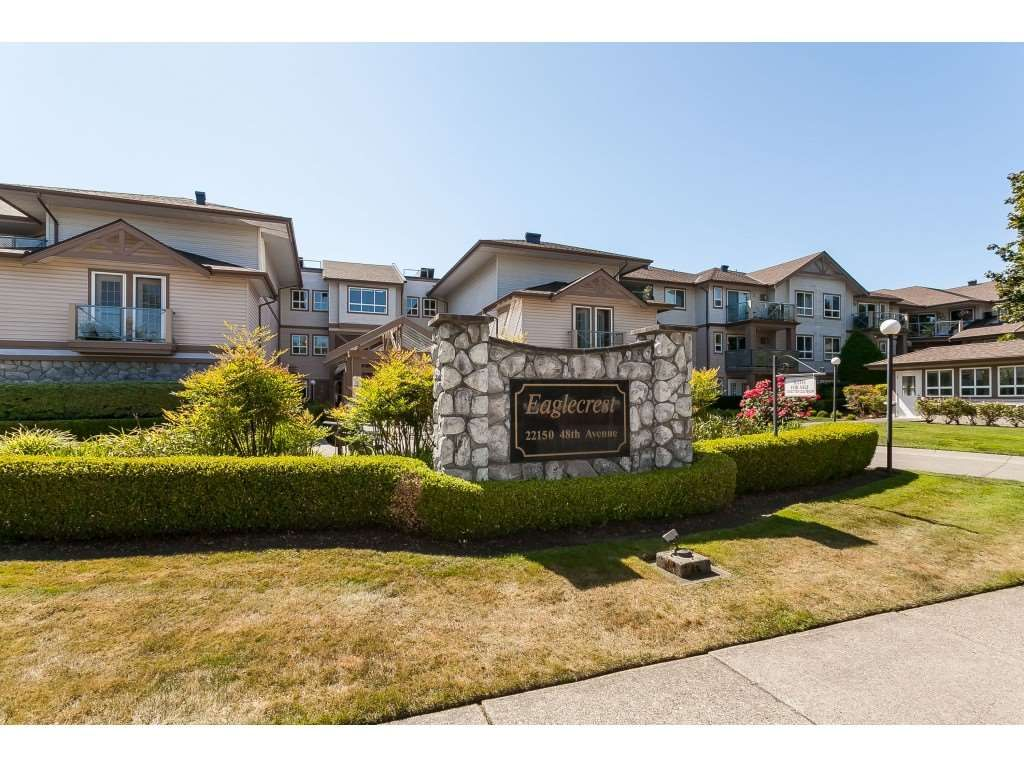 """Main Photo: 322 22150 48 Avenue in Langley: Murrayville Condo for sale in """"Eaglecrest"""" : MLS®# R2488936"""