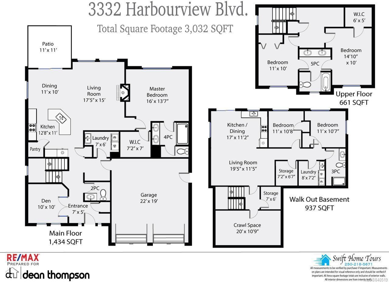 Photo 3: Photos: 3332 Harbourview Blvd in COURTENAY: CV Courtenay City House for sale (Comox Valley)  : MLS®# 840519
