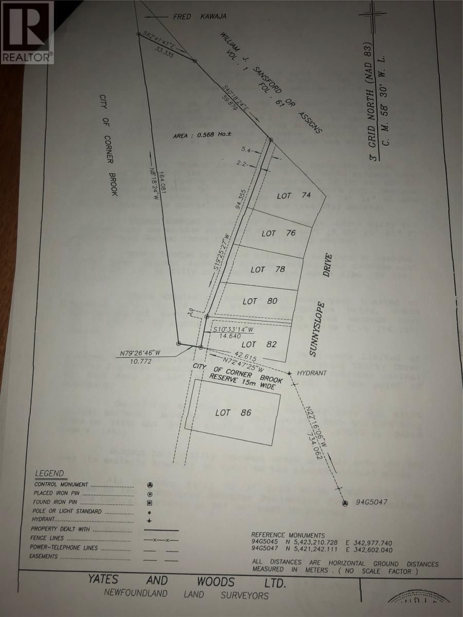 Main Photo: 84A Sunnyslope Drive in CornerBrook: Vacant Land for sale : MLS®# 1233572