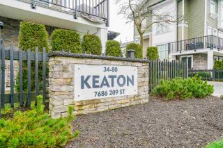 """Photo 1: 65 7686 209 Street in Langley: Willoughby Heights Townhouse for sale in """"Keaton"""" : MLS®# R2555516"""