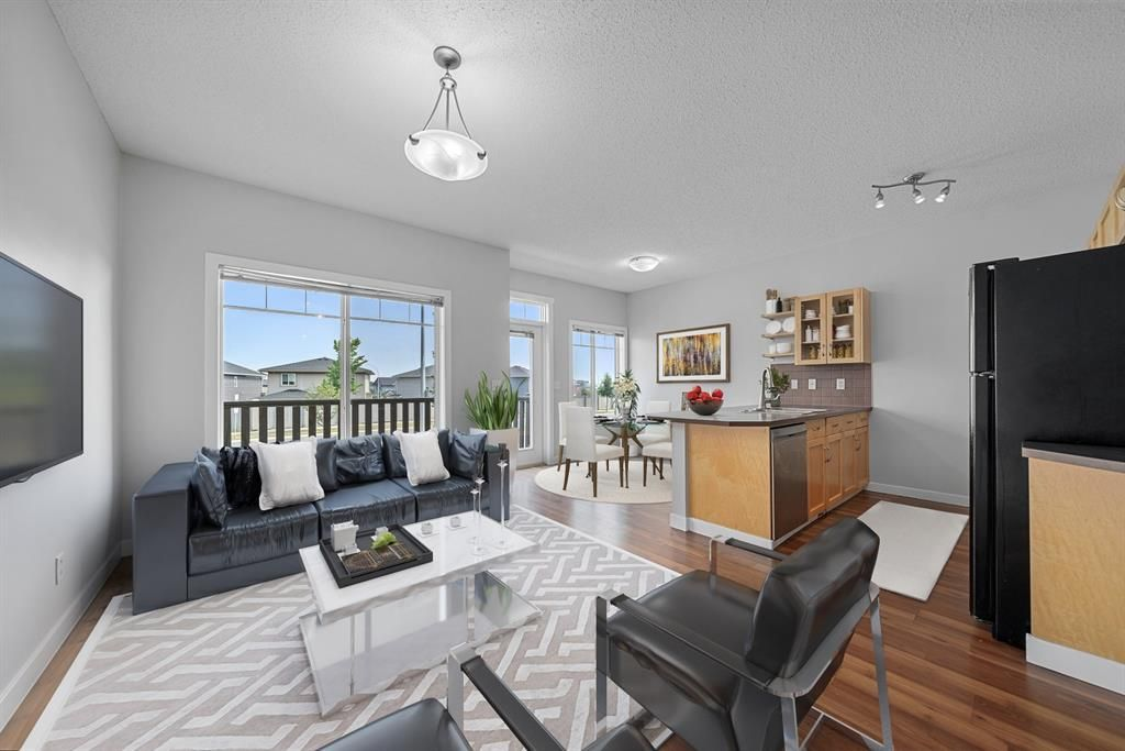 Virtually Staged Living / Dining Room.