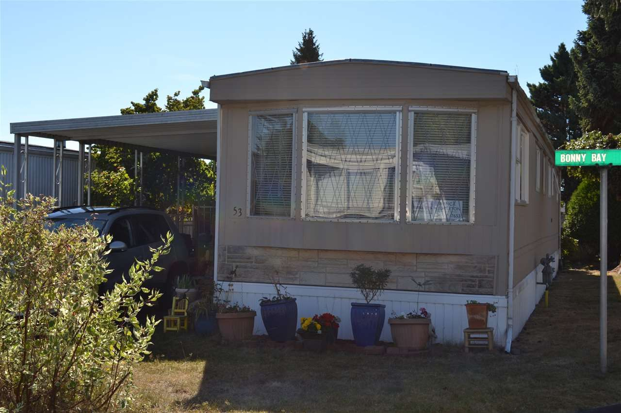 """Main Photo: 53 1840 160 Street in Surrey: King George Corridor Manufactured Home for sale in """"Breakaway Bays"""" (South Surrey White Rock)  : MLS®# R2098487"""