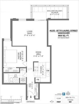 """Photo 14: 105 8770 LAUREL Street in Vancouver: Marpole Condo for sale in """"VILLA MARINE"""" (Vancouver West)  : MLS®# R2458969"""