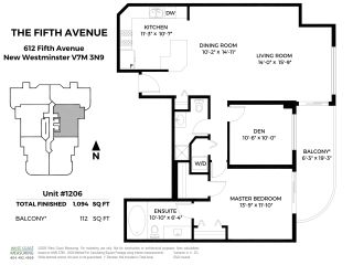 "Photo 24: 1206 612 FIFTH Avenue in New Westminster: Uptown NW Condo for sale in ""The Fifth Avenue"" : MLS®# R2514010"