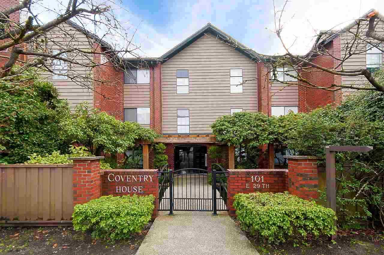 "Main Photo: 301 101 E 29TH Street in North Vancouver: Upper Lonsdale Condo for sale in ""COVENTRY HOUSE"" : MLS®# R2548759"