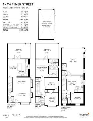 "Photo 2: 1 116 MINER Street in New Westminster: Sapperton 1/2 Duplex for sale in ""Sapperton"" : MLS®# R2585283"