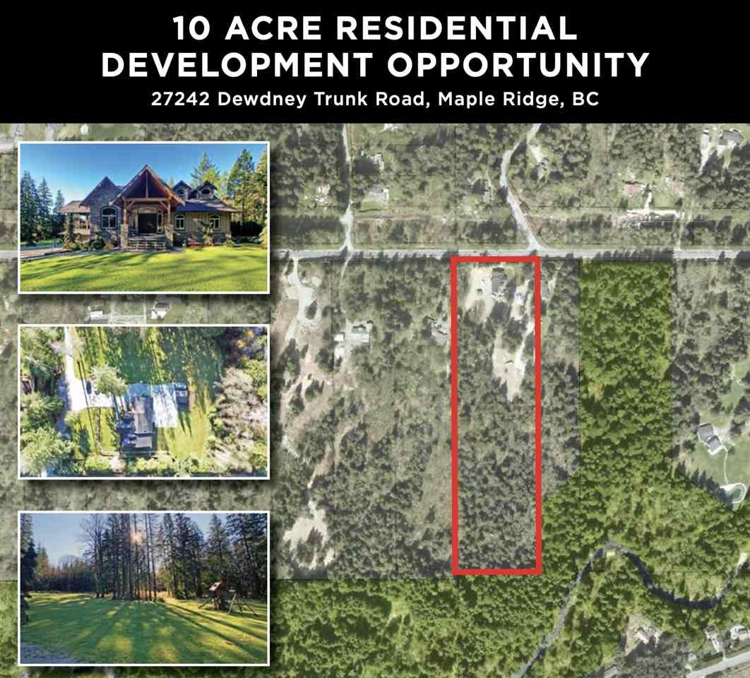 Main Photo: 27242 DEWDNEY TRUNK Road in Maple Ridge: Northeast House for sale : MLS®# R2523092