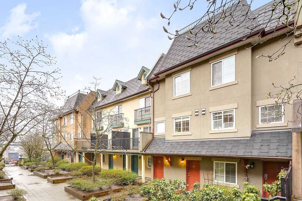 """Main Photo: 19 1561 BOOTH Avenue in Coquitlam: Maillardville Townhouse for sale in """"THE COURCELLES"""" : MLS®# R2147892"""