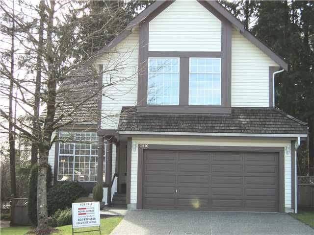 Main Photo: 2916 VALLEYVISTA Drive in Coquitlam: Westwood Plateau House for sale : MLS®# V877161