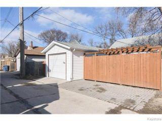 Photo 17: 140 Aubrey Street in Winnipeg: West End / Wolseley Residential for sale (West Winnipeg)  : MLS®# 1608340