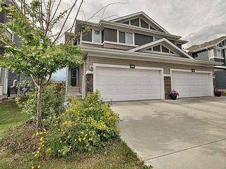 Photo 1: 16654 14 Avenue in Edmonton: Zone 56 House Half Duplex for sale : MLS®# E4248796