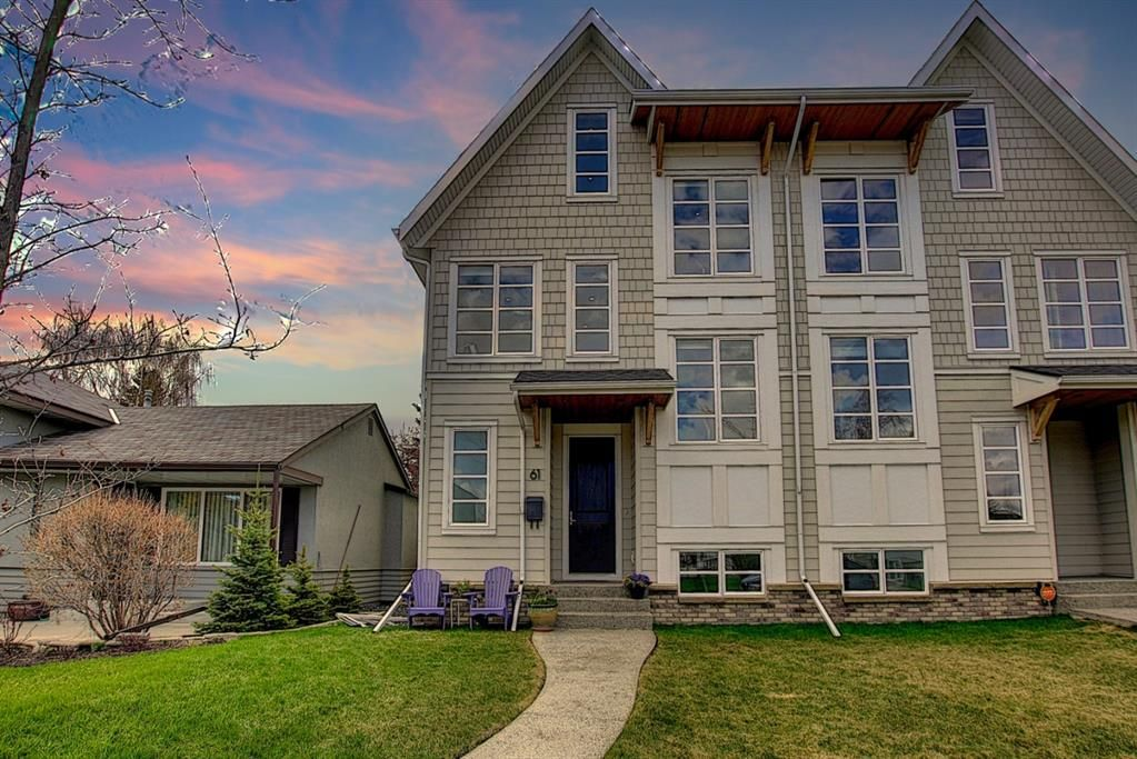 Main Photo: 61 Moncton Road NE in Calgary: Winston Heights/Mountview Semi Detached for sale : MLS®# A1105916