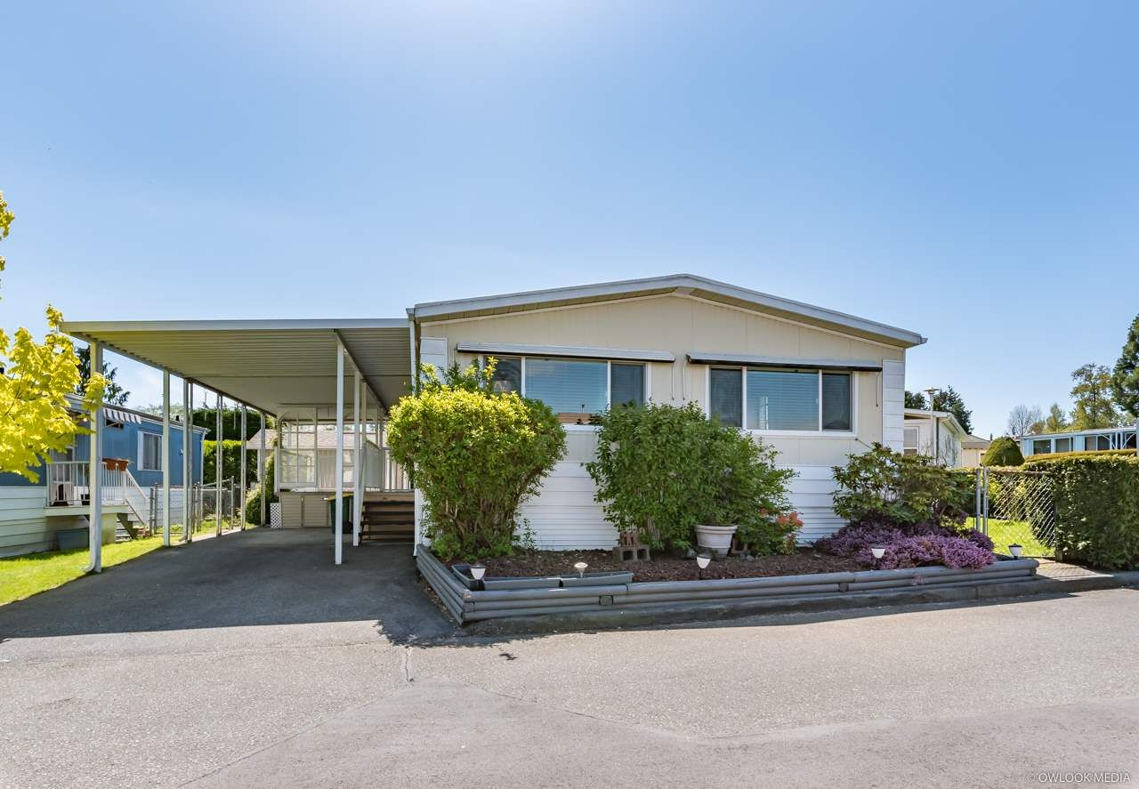 "Main Photo: 58 8254 134 Street in Surrey: Queen Mary Park Surrey Manufactured Home for sale in ""WESTWOOD ESTATES"" : MLS®# R2358932"