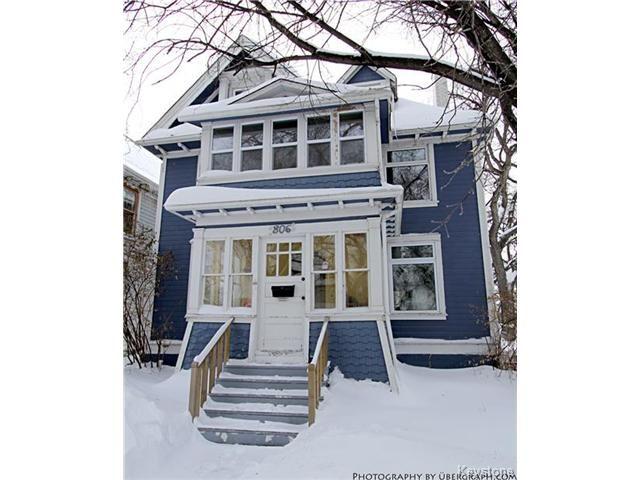 Main Photo: 804 Honeyman Avenue in WINNIPEG: West End / Wolseley Residential for sale (West Winnipeg)  : MLS®# 1401553