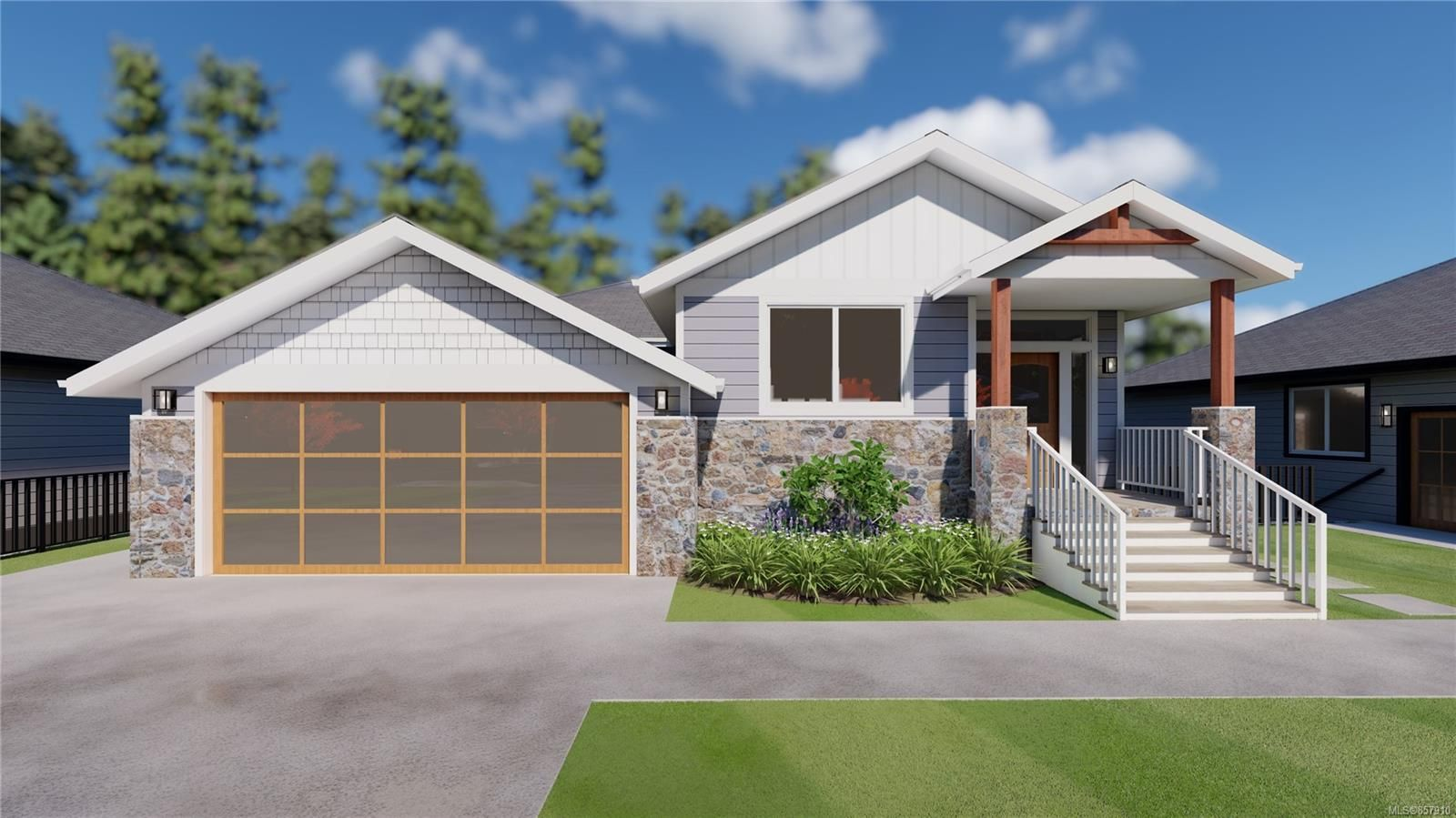 Pre-construction renderings (Actual colour codes used). Finished home may not be exactly as shown