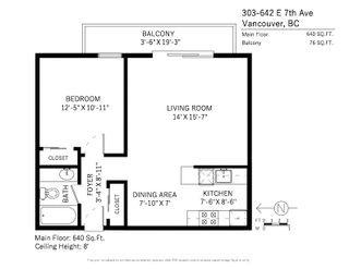 Photo 19: 303 642 E 7TH AVENUE in Vancouver: Mount Pleasant VE Condo for sale (Vancouver East)  : MLS®# R2242560