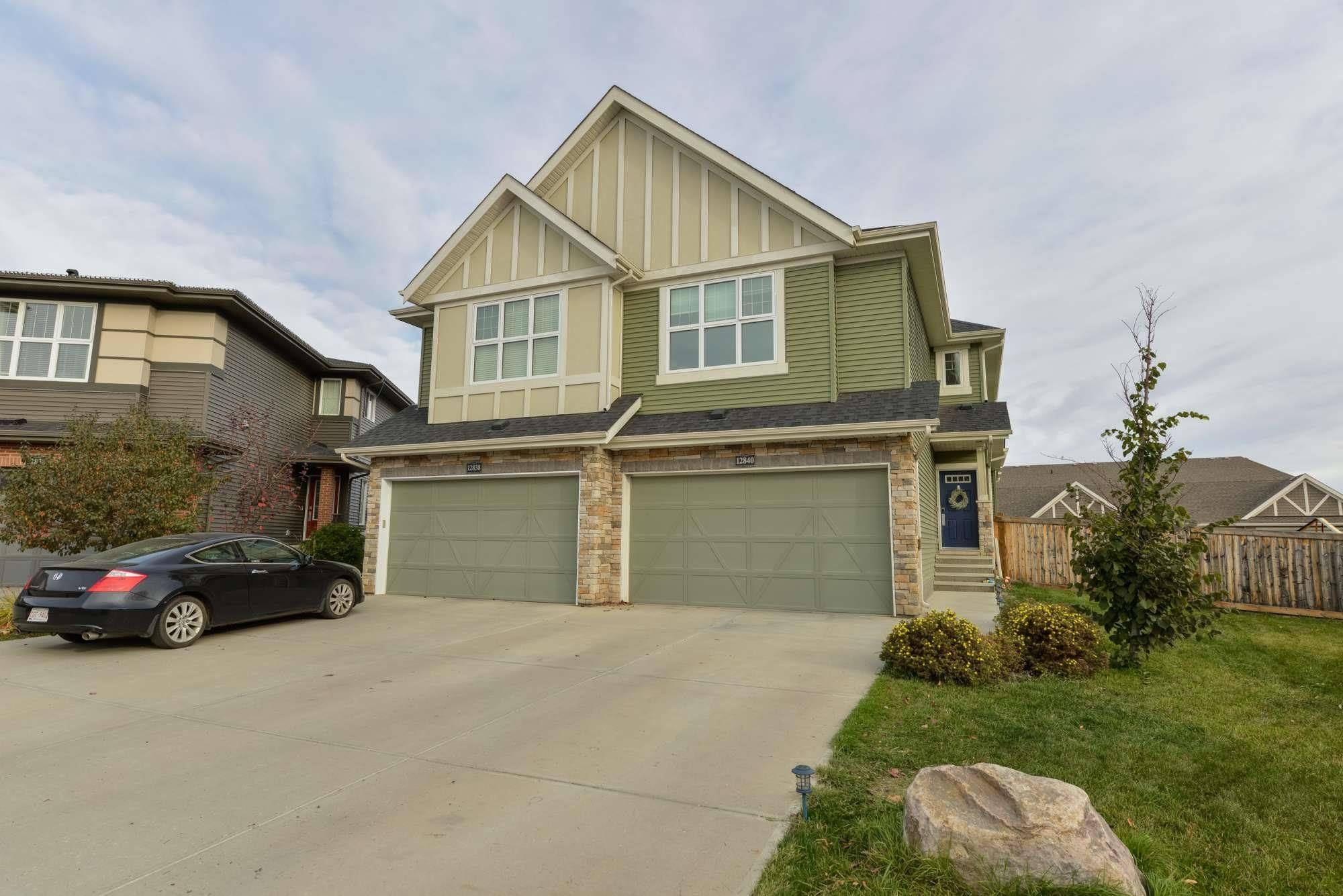 Main Photo: 12840 205 Street in Edmonton: Zone 59 House Half Duplex for sale : MLS®# E4265998
