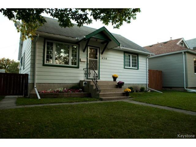 Main Photo: 430 Edgewood Street in WINNIPEG: St Boniface Residential for sale (South East Winnipeg)  : MLS®# 1318062