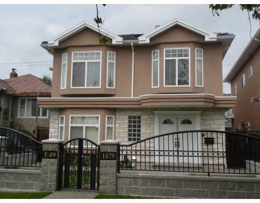 Main Photo: 1679 E 49TH AVENUE in : Knight House for sale : MLS®# V719374